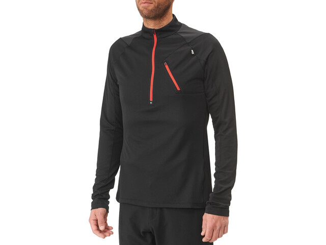 Millet Red Needles Zip LS Men black-noir